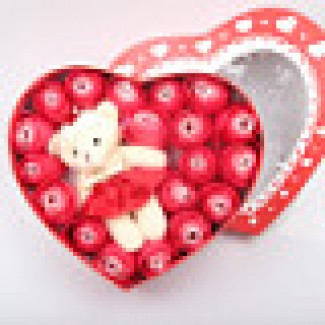 Heart Shape teddybear soap