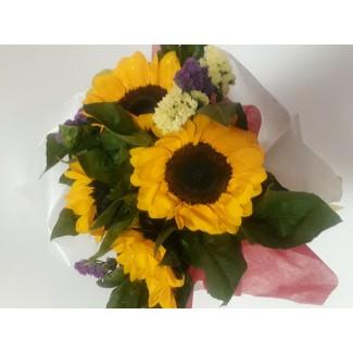 sunflowers valentine bouquet