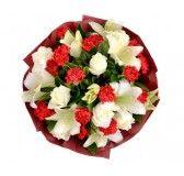 red roses and white roses