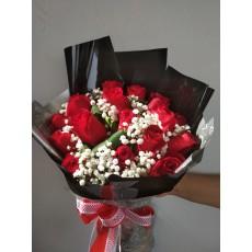 Black wrapper for roses